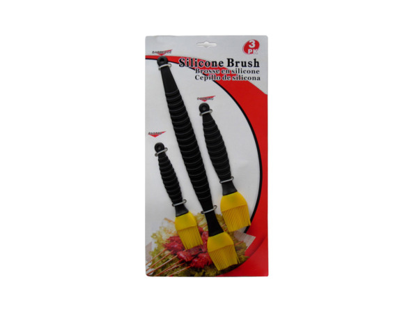 Silicone brush set, pack of 3