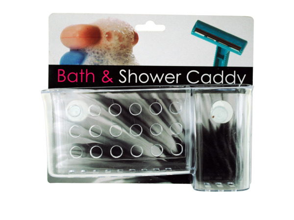 Shower and toothbrush caddy combo with suction cups