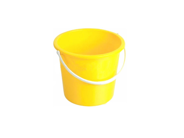 Plastic bucket, 10 liters, assorted colors
