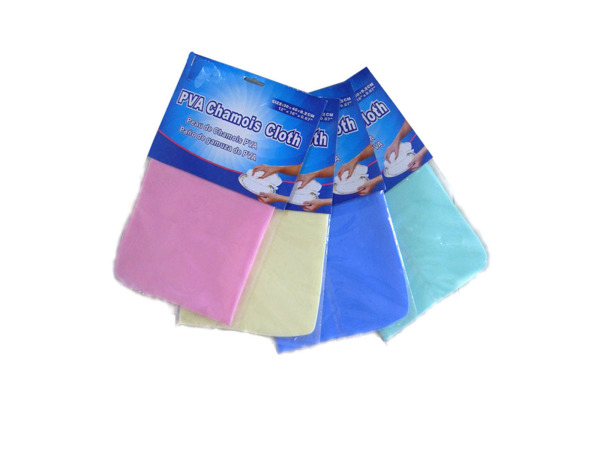 Chamois cloth, assorted colors