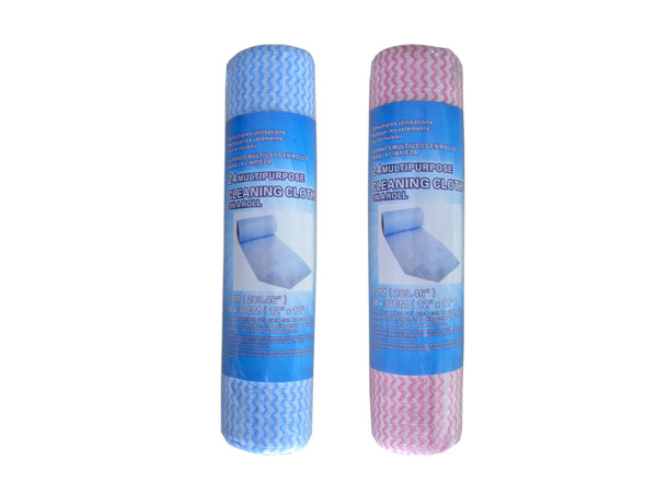 Reusable cleaning cloth roll