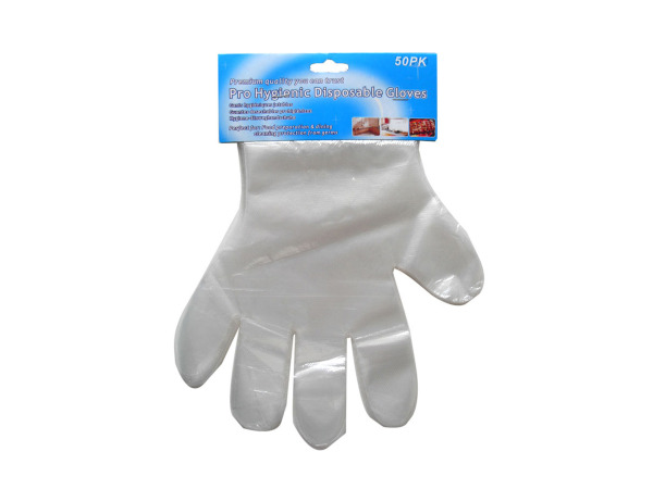 Hygienic disposable gloves, pack of 50