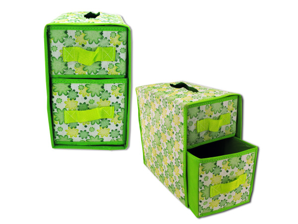 Multi-functional non-woven storage box with drawers
