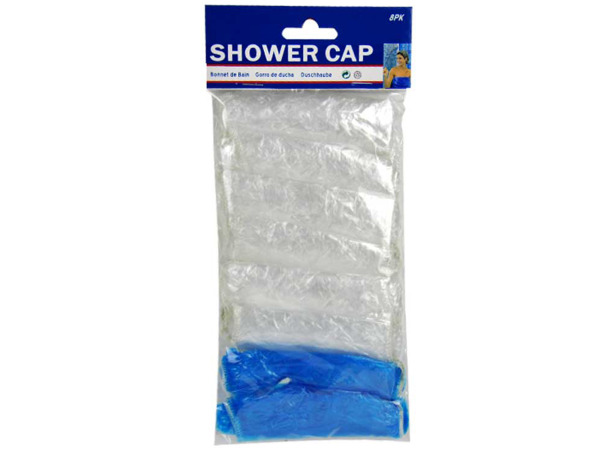 Shower caps, pack of 8