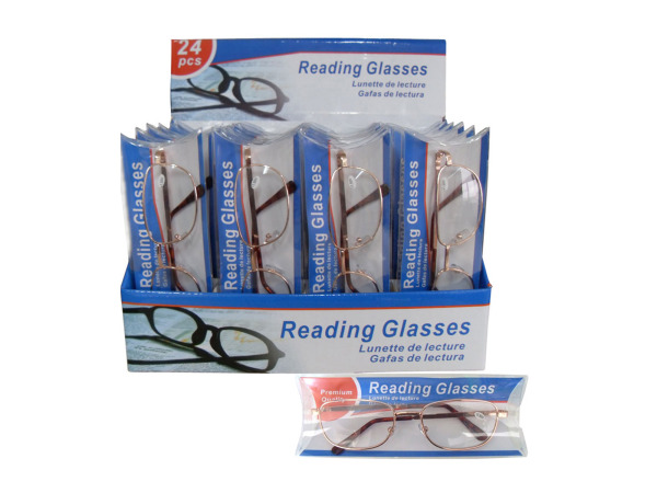 Reading glasses in metal frames