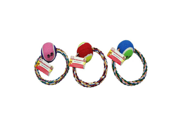 Toy pet ring with ball
