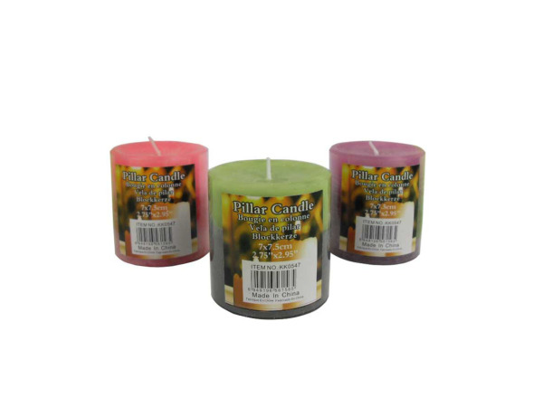 Pillar Candle, 3 Colors