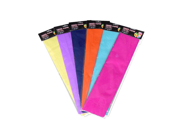 Crepe paper, assorted bright colors