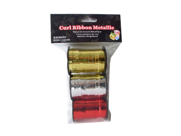 Metallic curling ribbon, pack of 3