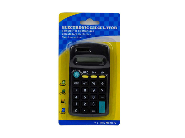 Electronic calculator with 3-key memory