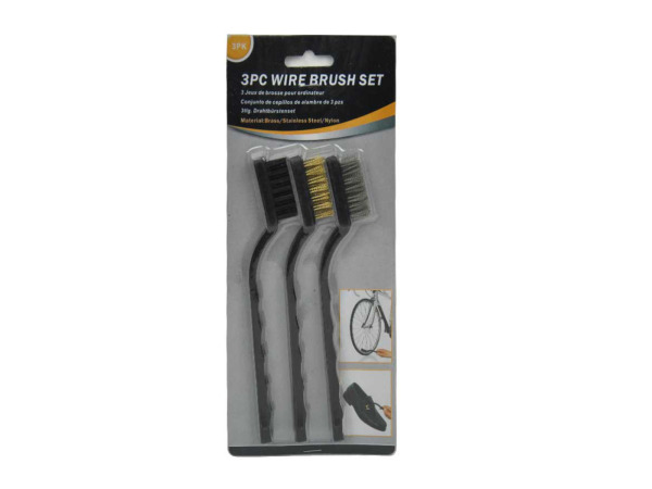 Wire brush set, pack of 3