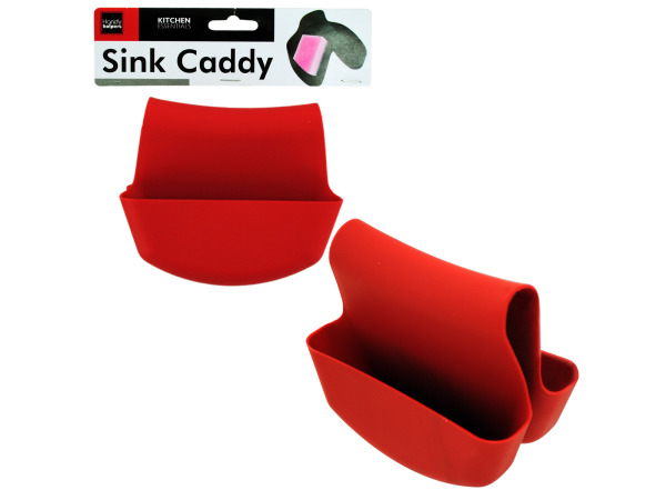 Saddle-style sink caddy