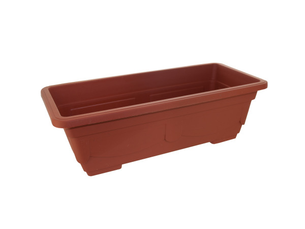Rectangular, Clay-Look Plastic Flower Pot