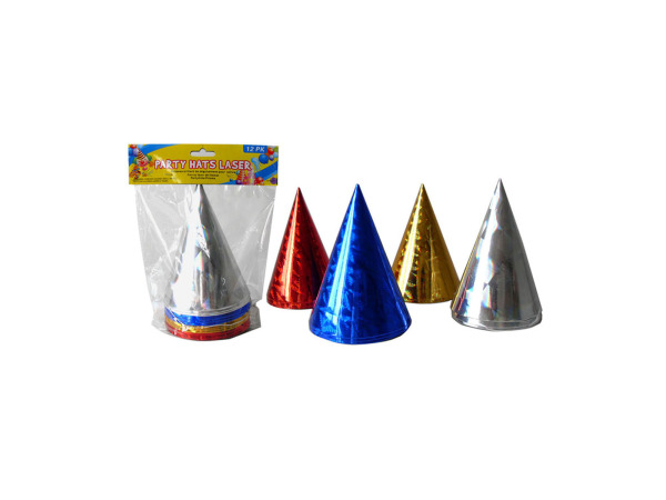 Party hats, laser design, pack of 12