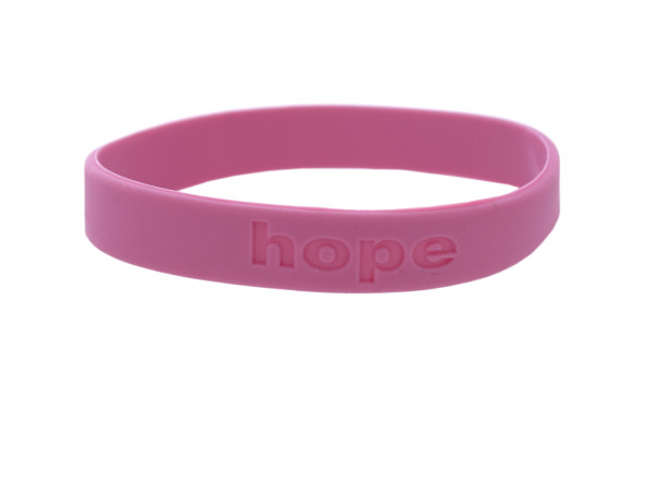 cherish hope dark pink silicone bracelet