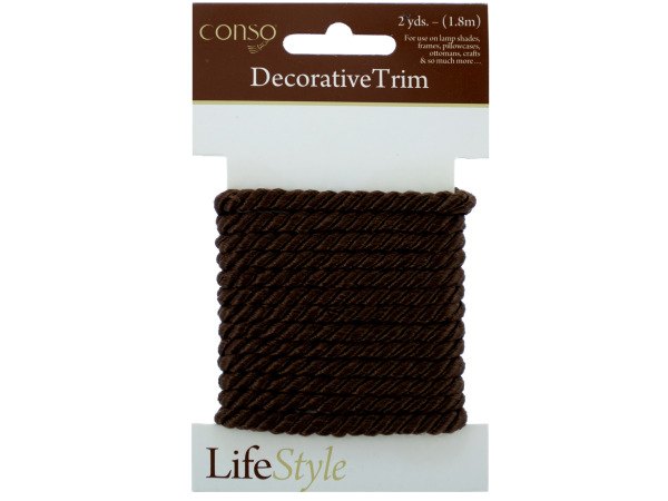 conso 2 yards brown twist cord