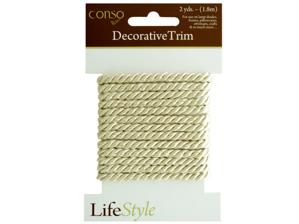 conso 2 yard cream rope decorative trim