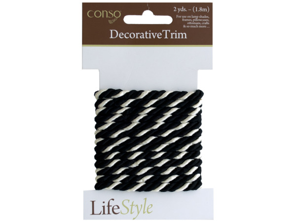 conso 2 yards black/white twist decorative trim