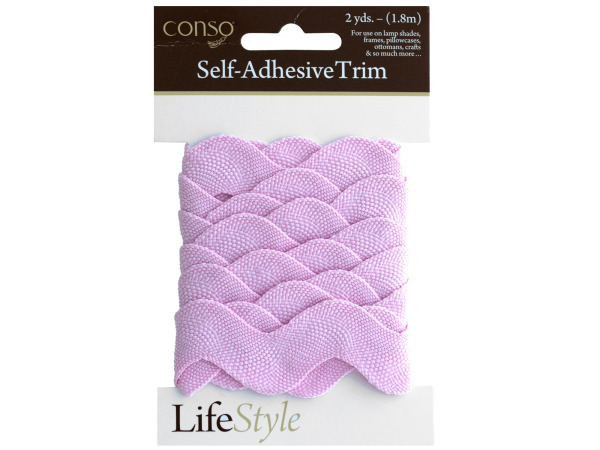 conso 2 yards pink self adhesive trim