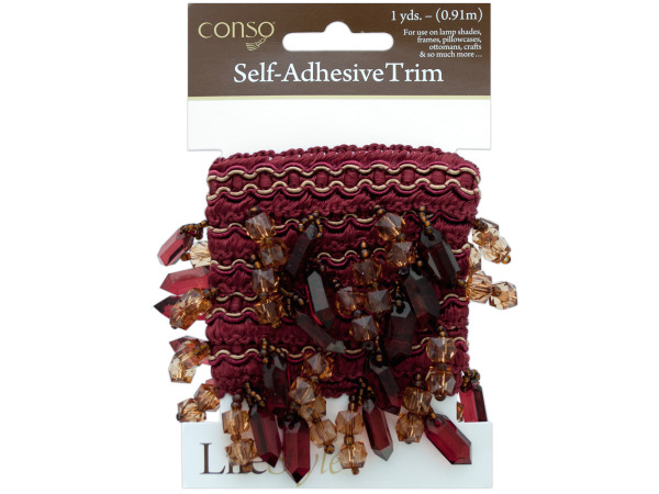 conso 1 yard rust trim with beads