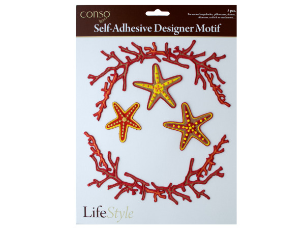 conso self adhesive 5 piece motif coral frame