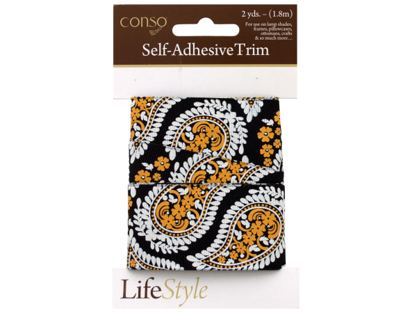 conso 2 yards paisley band self adhesive trim