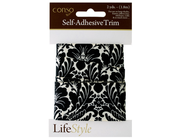 conso 2 yard damask self adhesive trim