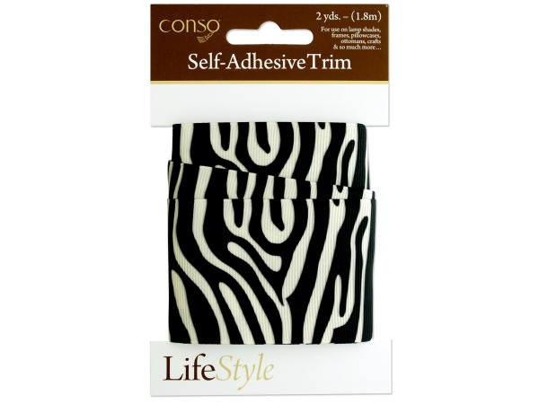 conso 2 yard zebra self adhesive trim