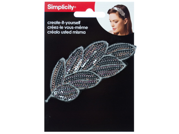 simplicty silver seuin feather accent