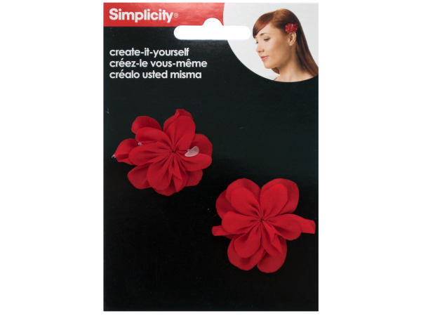 simplicity 2 pack create it yourself red fabric flowers