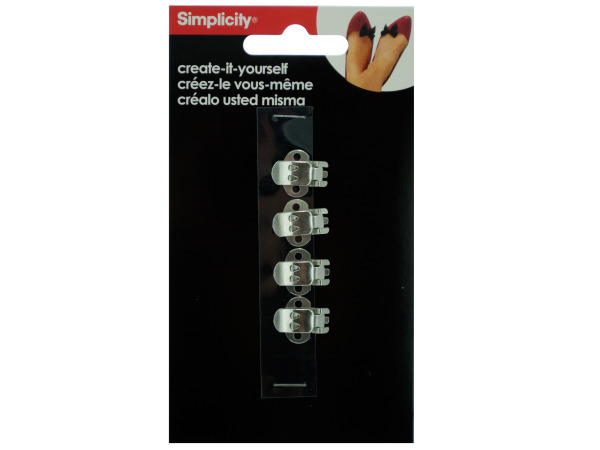simplicity 4 pack create it yourself silver shoe clips