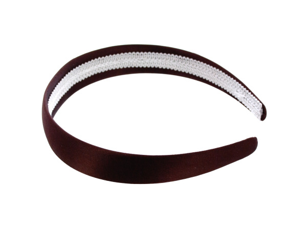 simplicity 1 inch brown satin headband
