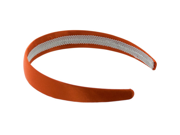 1 inch. satin orange headband