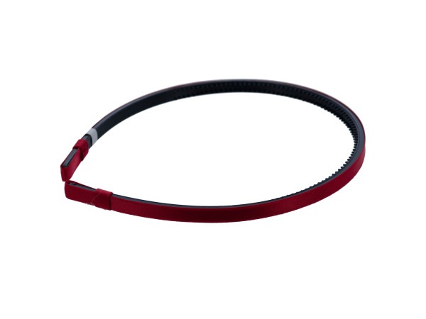 simplicity 1/4 inch red satin headband