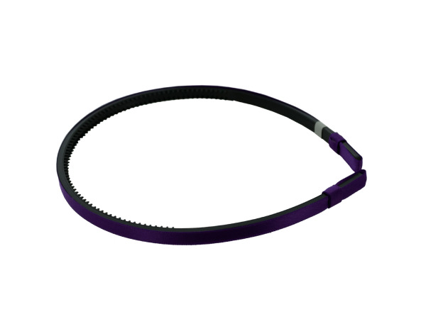 simplity 1/4 inch purple satin headband