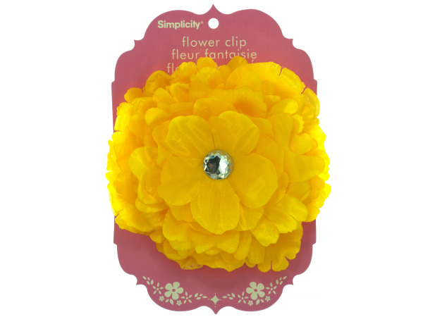 simplicity large yellow flower w/gem