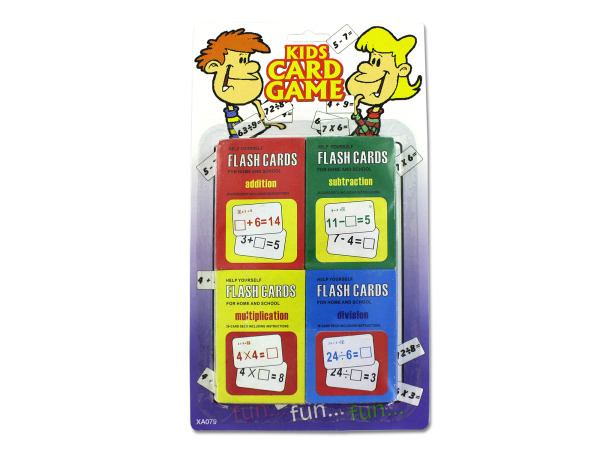 Children's flash card set