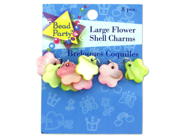 Large flower shell charms