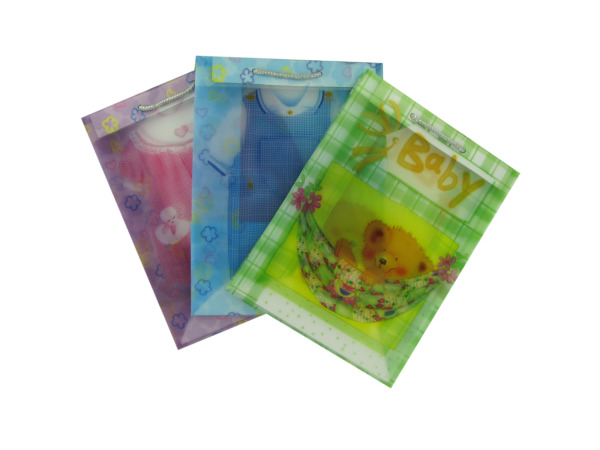 Transparent baby gift bags, assorted medium size