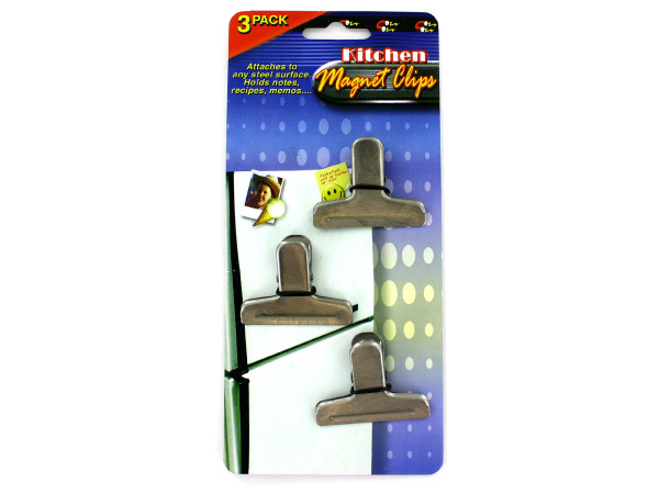 Magnet clips for refrigerator, pack of 3
