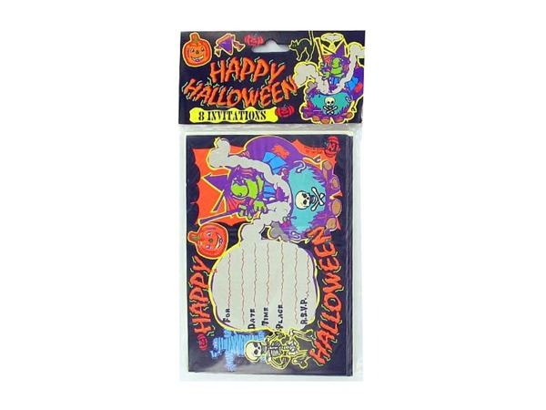 Halloween invitations, pack of 8