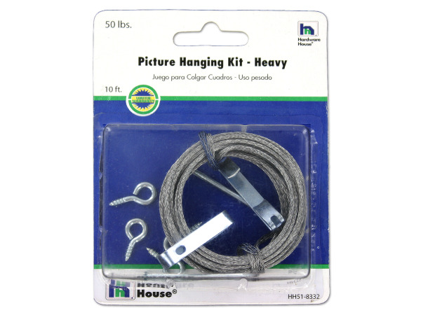 10 ft picture hanging kit (holds up to 50 lbs)