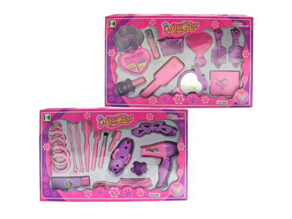 Makeup or hair play set, 2 styles