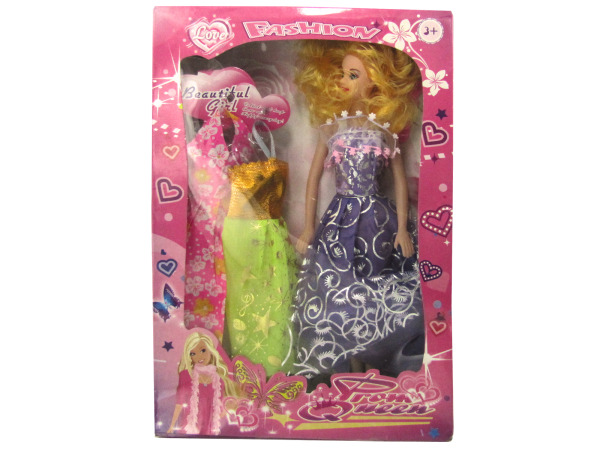 Prom Queen Fashion Doll with Dresses Set