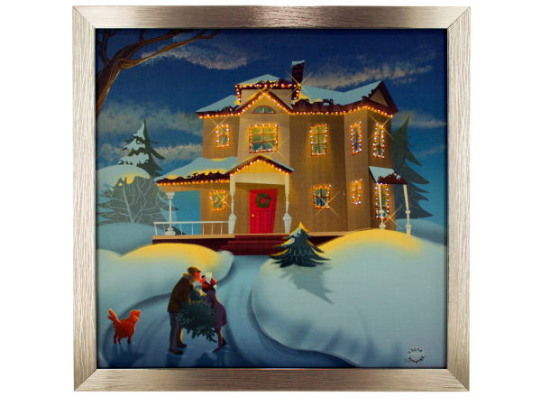 Holiday Charm Musical Light Up Art