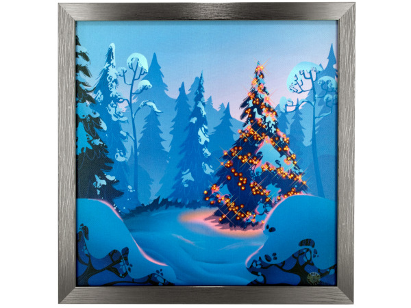 Silent Night Musical Light Up Art