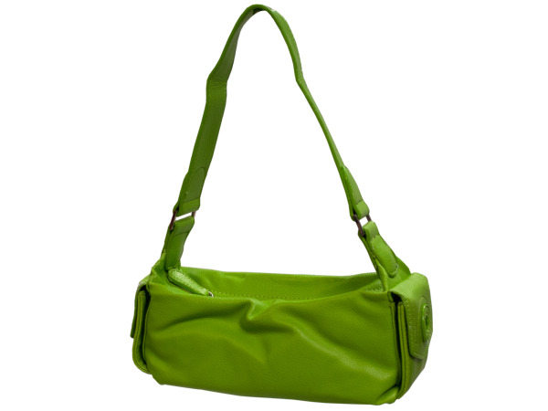 Matte Green Handbag with Pockets