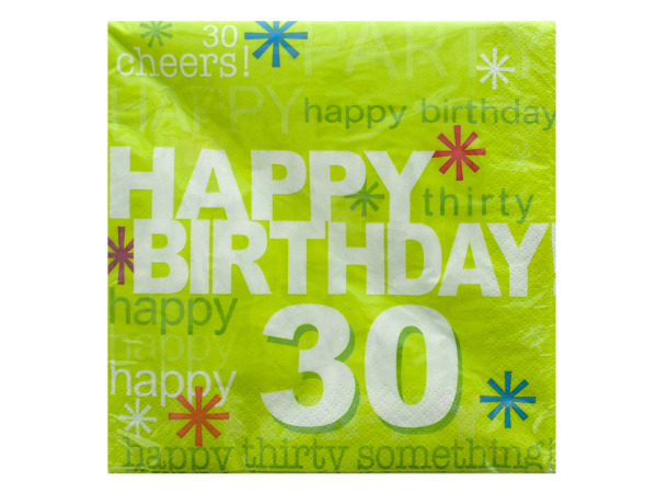 '30' Time to Party Napkins Set